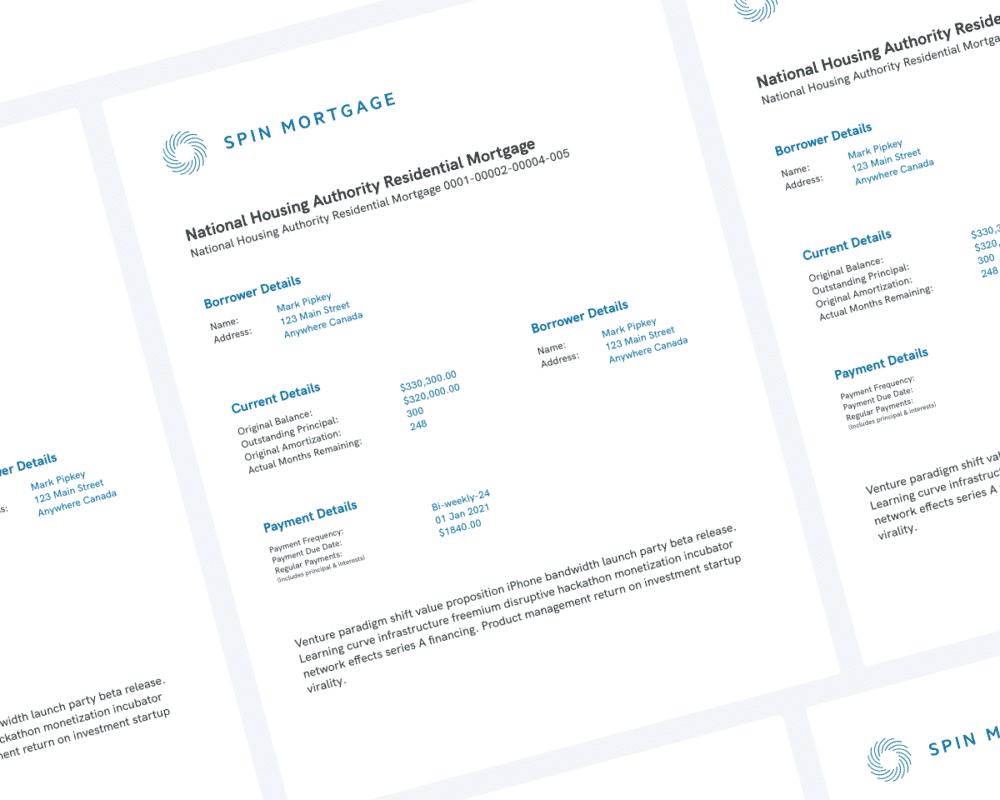 Mortgage Statement Sample Document
